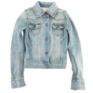 Mossimo Denim Cropped Distressed Jean Jacket XS